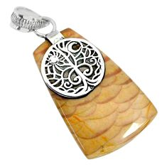 22.34cts natural willow creek jasper 925 sterling silver pendant jewelry r91127