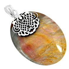 49.74cts natural willow creek jasper 925 sterling silver pendant jewelry r91129