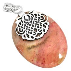 37.38cts natural willow creek jasper 925 sterling silver pendant jewelry r91135