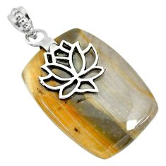 34.51cts natural willow creek jasper 925 sterling silver pendant jewelry r91137