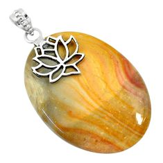 47.91cts natural willow creek jasper 925 sterling silver pendant jewelry r91138