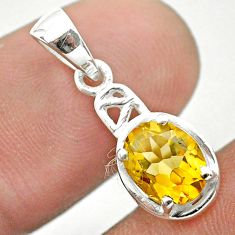 2.05cts natural yellow citrine 925 sterling silver pendant jewelry t51382