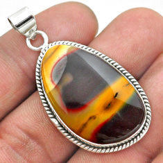20.88cts natural yellow mookaite 925 sterling silver pendant jewelry t53773
