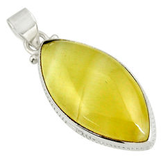 Clearance Sale- 19.45cts natural yellow olive opal 925 sterling silver pendant jewelry d39312