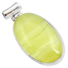 Clearance Sale- 26.16cts natural yellow olive opal 925 sterling silver pendant jewelry d41418