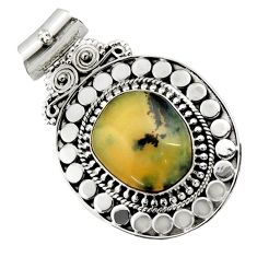 Clearance Sale- 13.41cts natural yellow opal 925 sterling silver pendant jewelry d45029