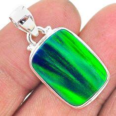 8.38cts northern lights aurora opal (lab) 925 silver pendant jewelry t17011