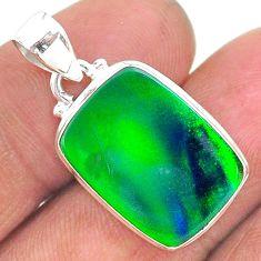 8.83cts northern lights aurora opal (lab) 925 silver pendant jewelry t17014