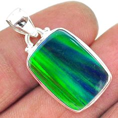8.83cts northern lights aurora opal (lab) 925 silver pendant jewelry t17025