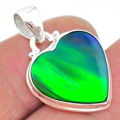 8.33cts northern lights aurora opal (lab) 925 silver pendant jewelry t17046