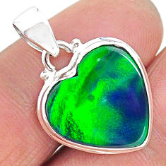 7.82cts northern lights aurora opal (lab) 925 silver pendant jewelry t17049