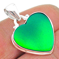 8.38cts northern lights aurora opal (lab) 925 silver pendant jewelry t17057