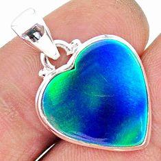 8.33cts northern lights aurora opal (lab) 925 silver pendant jewelry t17058