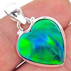 5.42cts northern lights aurora opal (lab) 925 silver pendant jewelry t17061