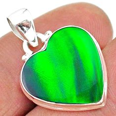 5.98cts northern lights aurora opal (lab) 925 silver pendant jewelry t17062