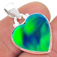 6.43cts northern lights aurora opal (lab) 925 silver pendant jewelry t17071
