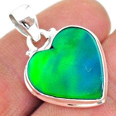 6.94cts northern lights aurora opal (lab) 925 silver pendant jewelry t17076