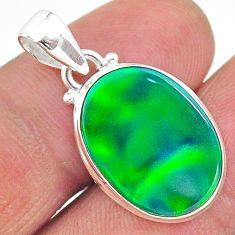 6.82cts northern lights aurora opal (lab) 925 silver pendant jewelry t17096