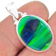 5.42cts northern lights aurora opal (lab) 925 silver pendant jewelry t17112