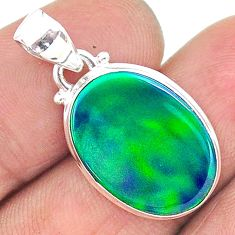 6.94cts northern lights aurora opal (lab) 925 silver pendant jewelry t17116