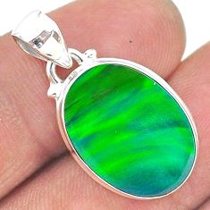 5.93cts northern lights aurora opal (lab) 925 silver pendant jewelry t17119