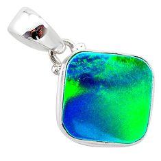 4.10cts northern lights aurora opal (lab) 925 silver pendant jewelry t25806