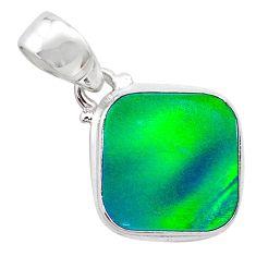 4.09cts northern lights aurora opal (lab) 925 silver pendant jewelry t25816
