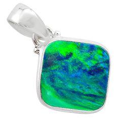 3.65cts northern lights aurora opal (lab) 925 silver pendant jewelry t25825