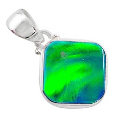 4.03cts northern lights aurora opal (lab) 925 silver pendant jewelry t25856