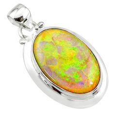 11.23cts pink australian fire opal 925 sterling silver pendant jewelry t10616
