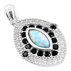 4.89cts pink australian opal (lab) topaz 925 silver pendant a96641 c24390