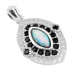 4.30cts pink australian opal (lab) topaz sterling silver pendant a96648 c24385