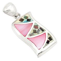 Pink pearl abalone paua seashell 925 silver pendant jewelry a75815 c14425