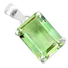 Prasiolite pendant natural green amethyst 925 sterling silver t54581