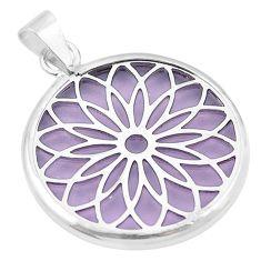 Purple bling topaz (lab) 925 sterling silver pendant jewelry c23162