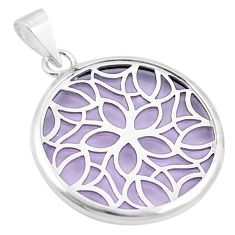 Purple bling topaz (lab) 925 sterling silver pendant jewelry c23163