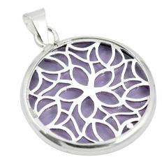 Purple bling topaz (lab) 925 sterling silver pendant jewelry c23167