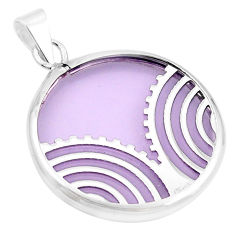 Purple bling topaz (lab) 925 sterling silver pendant jewelry c23173
