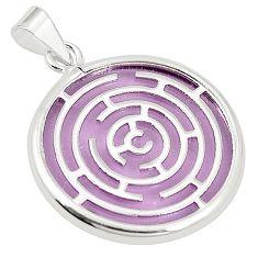Purple bling topaz (lab) 925 sterling silver pendant jewelry c23179