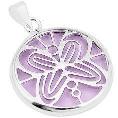 Purple bling topaz (lab) 925 sterling silver pendant jewelry c23184