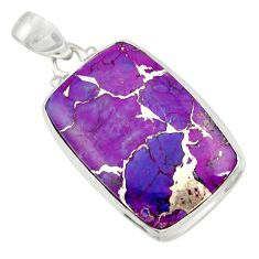 21.48cts purple copper turquoise 925 sterling silver pendant jewelry d41786