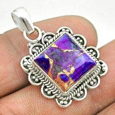 8.03cts purple copper turquoise 925 sterling silver pendant jewelry t53177