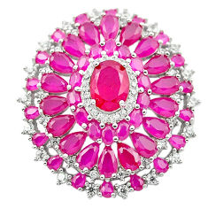Red ruby quartz topaz 925 sterling silver pendant jewelry c19021