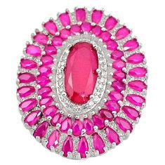 Red ruby quartz topaz 925 sterling silver pendant jewelry c19022