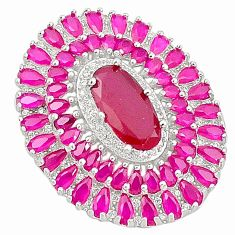 Red ruby quartz topaz 925 sterling silver pendant jewelry c19024