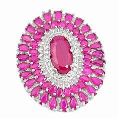 Red ruby quartz topaz 925 sterling silver pendant jewelry c19026