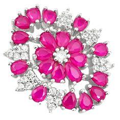 Red ruby quartz topaz 925 sterling silver pendant jewelry c19079