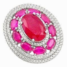 Red ruby quartz topaz 925 sterling silver pendant jewelry c19114