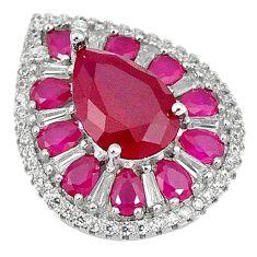 Red ruby quartz topaz 925 sterling silver pendant jewelry c19851