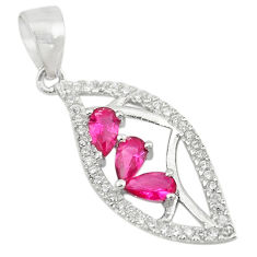 Red ruby quartz topaz 925 sterling silver pendant jewelry c22123
